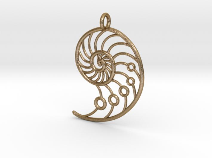 Snail Pendant 3d printed