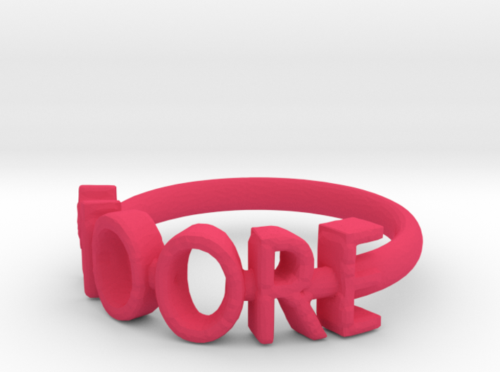 Moore Ring Size 7 3d printed