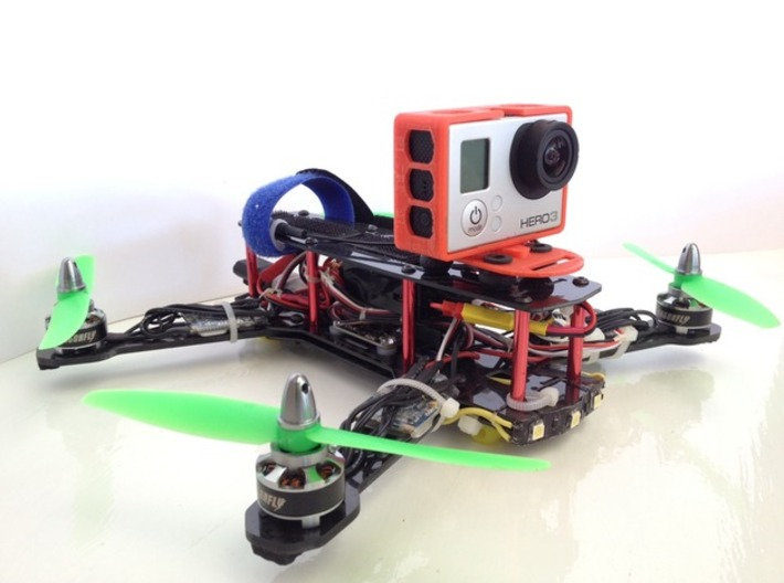 ZMR250 Quadcopter GoPro3 Frame 3d printed ZMR250 with Case fitted