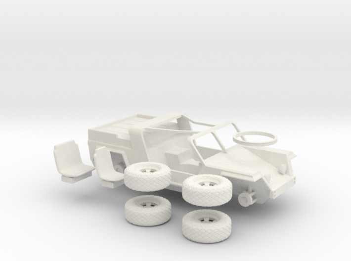 XR311 1:56 with wheels 3d printed