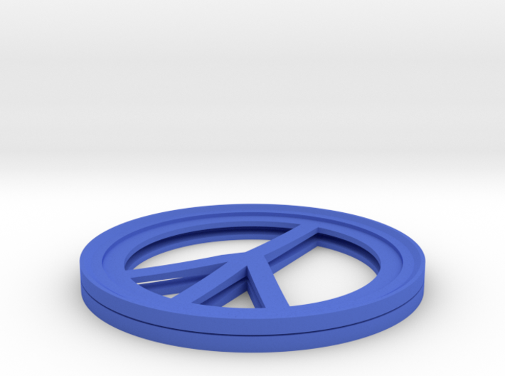 Peace Sign Coffee Cup Coaster (TWO PER SET) 3d printed