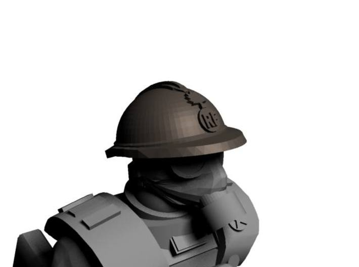 28mm WW1 French Helmets 3d printed