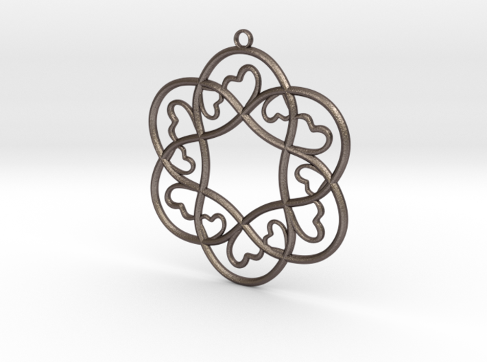 Little Hearts Pendant 3d printed