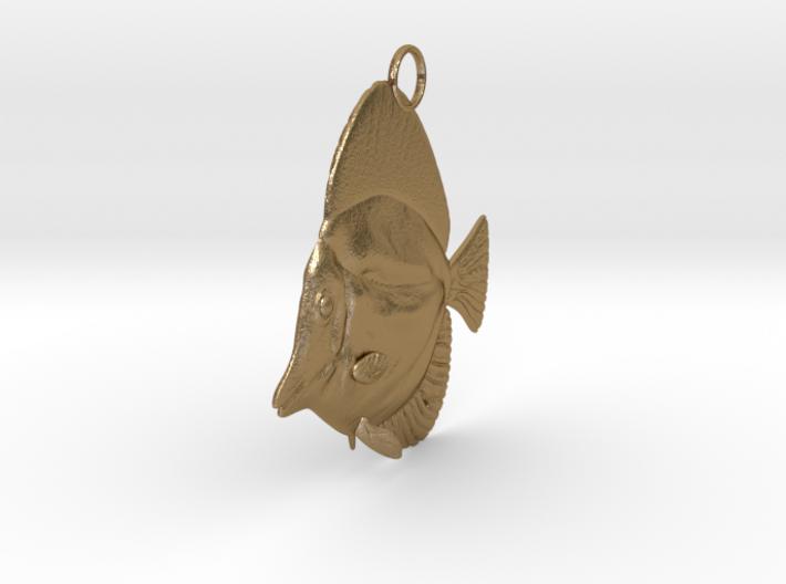 Fish Pendant 3d printed