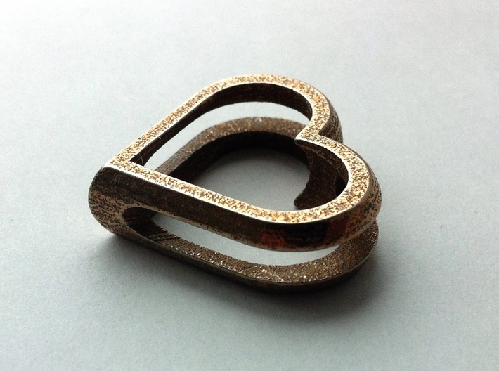 MyHearts 3d printed Stainless Steel