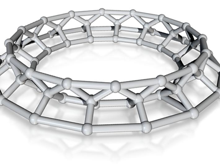 Molecular Architecture | Alkane Chain C16 | steel 3d printed