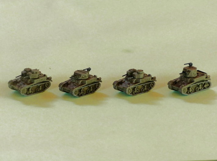 M1 & M2 Combat Cars / Light Tanks 1/220 3d printed 1/285 Models