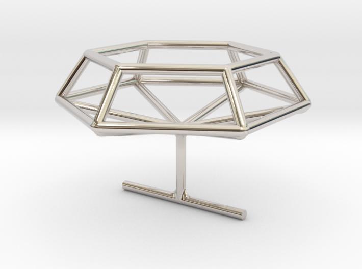 Medium wireframe diamond ring 3d printed