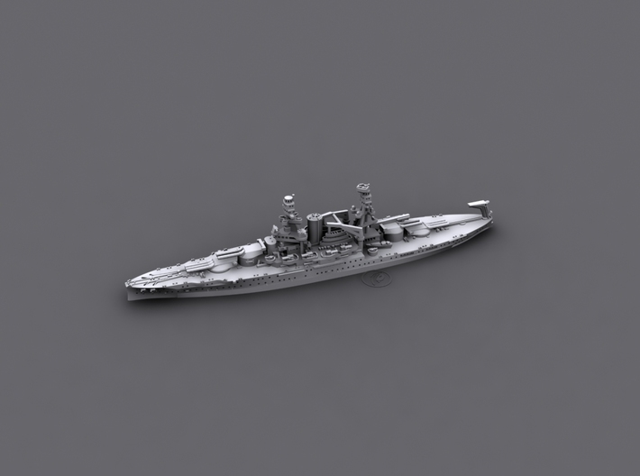 1/1800 US BB37 Oklahoma [1941] 3d printed Computer software render