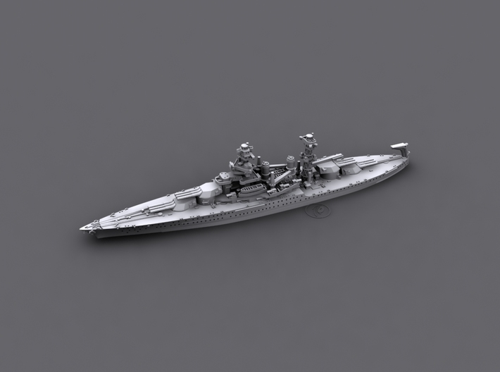 1/1800 US BB43 Tennessee [1941] 3d printed Computer software render