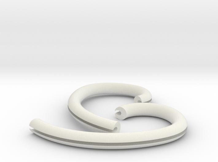 Ear Hook 2.5mm 3d printed