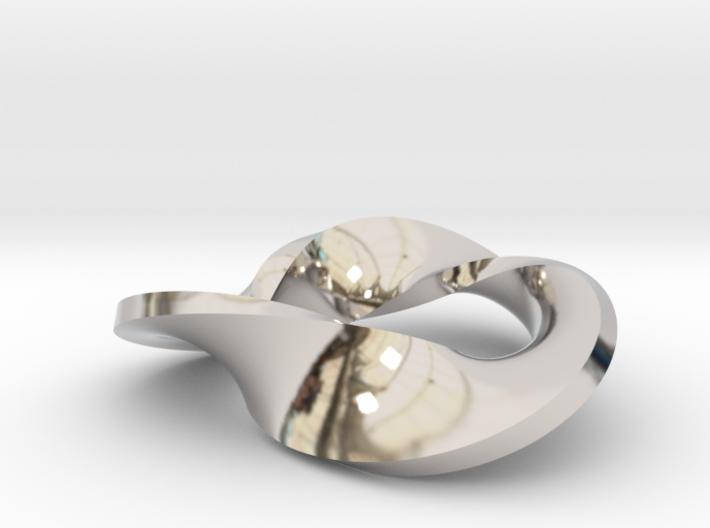 Trefoil moebius - pendant 3d printed