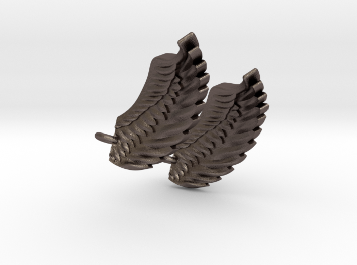 Wings Earrings 3d printed