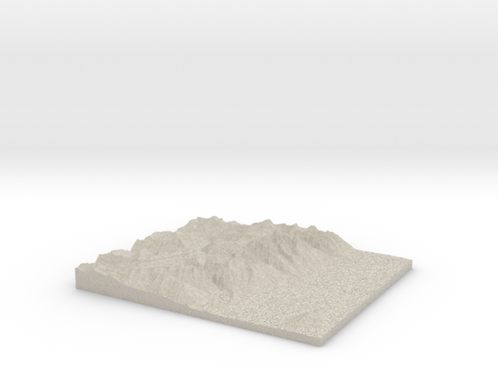Model of Mount Wister 3d printed