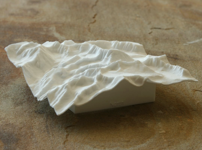 4'' Mt. Whitney Terrain Model, California, USA 3d printed View of actual model, from NNE