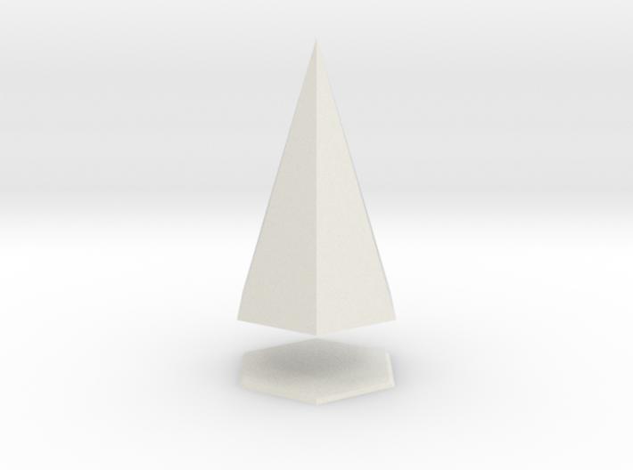 Pyramis Laterata Exagona Solida 3d printed