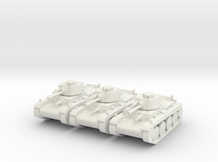 1/144 Panzer 38t (3 pieces) 3d printed