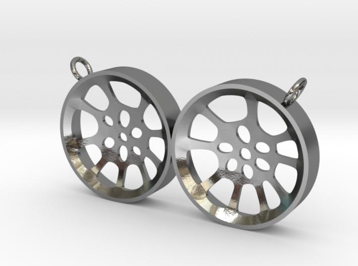 "Double Seconds ""void"" steelpan pendant, L 3d printed"
