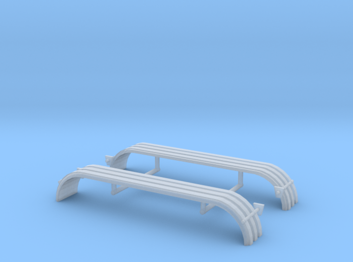 1/64th UFS Triaxle Fenders Rounded Ribbed 3d printed