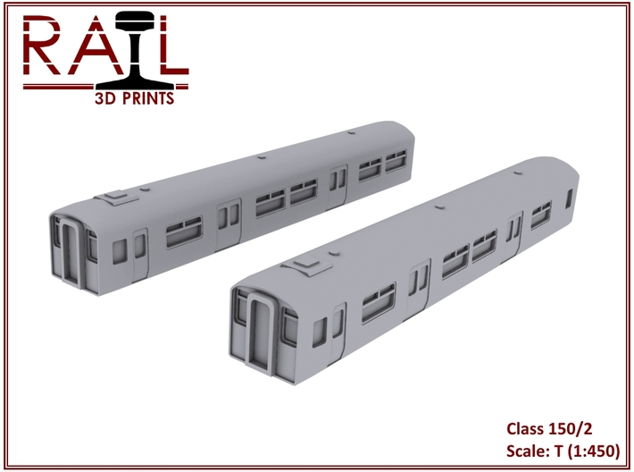 T Scale Class 150/2 3d printed Render of the T Scale 150/2