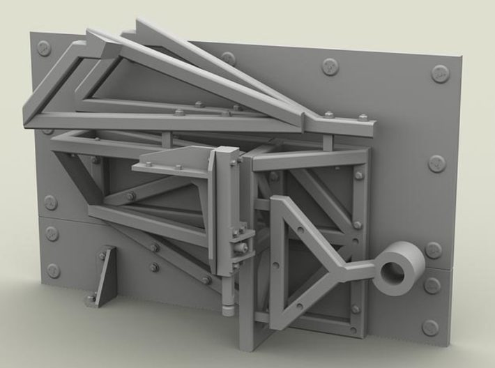 1/35 SPM-35-004 HMMWV rear shield for GMV Dumvee 3d printed