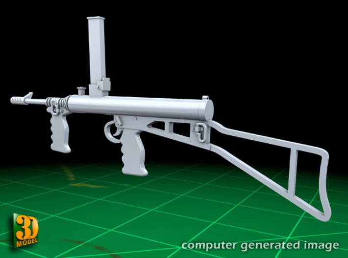 OWEN GUN (32x) 3d printed Owen submachine gun version 1 (with open riffle butt)