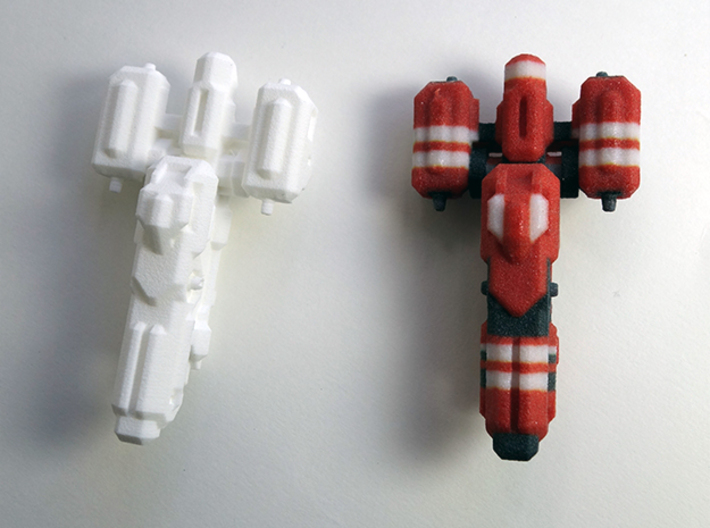 Miniature of Red Ship from Space Engineers game 3d printed Red Ship