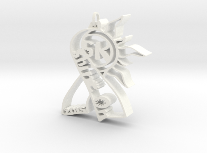 Shine On 5k pendant for Skin Cancer Fundraiser 3d printed