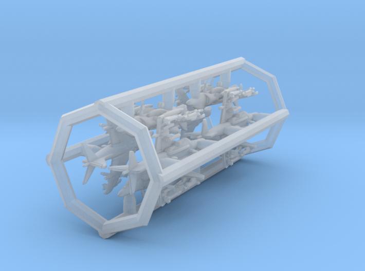 1/700 AV-8B+ with Gear x8 (FUD) 3d printed