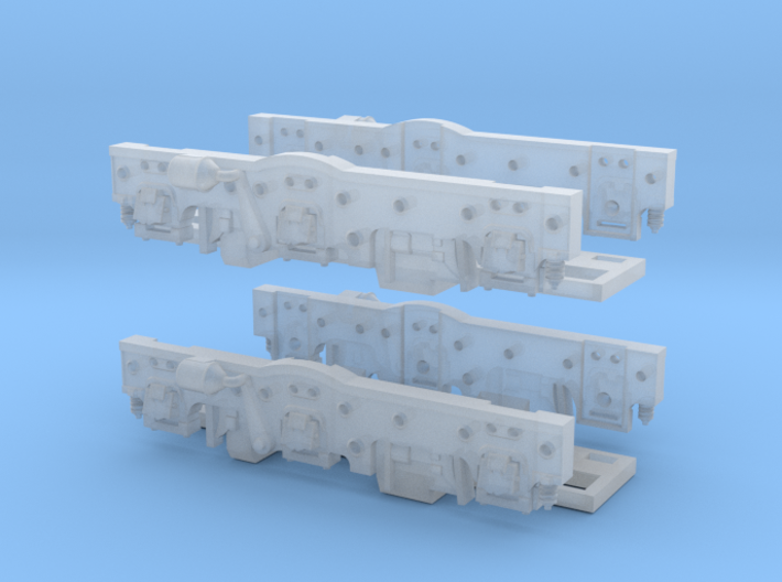 Baldwin DT6-6-2000 Side Frames X2 N Scale 1:160 3d printed