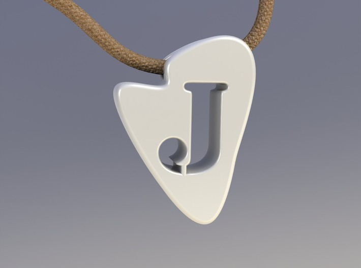 J Tooth Necklace 3d printed