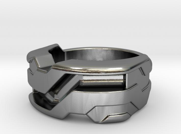 US6 Ring XXI: Tritium (Silver) 3d printed