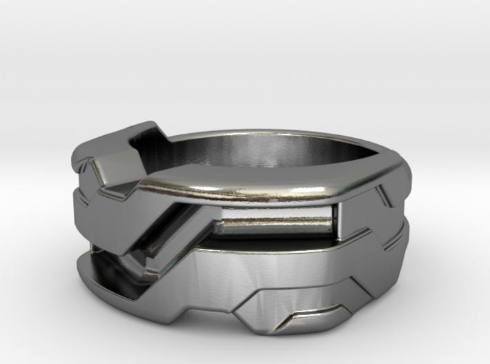 US6.5 Ring XXI: Tritium (Silver) 3d printed