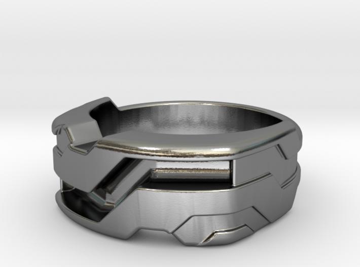 US9.5 Ring XXI: Tritium (Silver) 3d printed