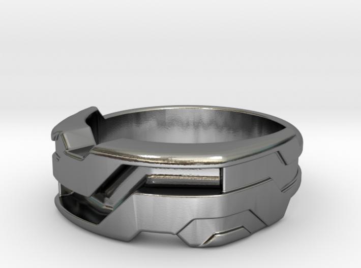 US12 Ring XXI: Tritium (Silver) 3d printed