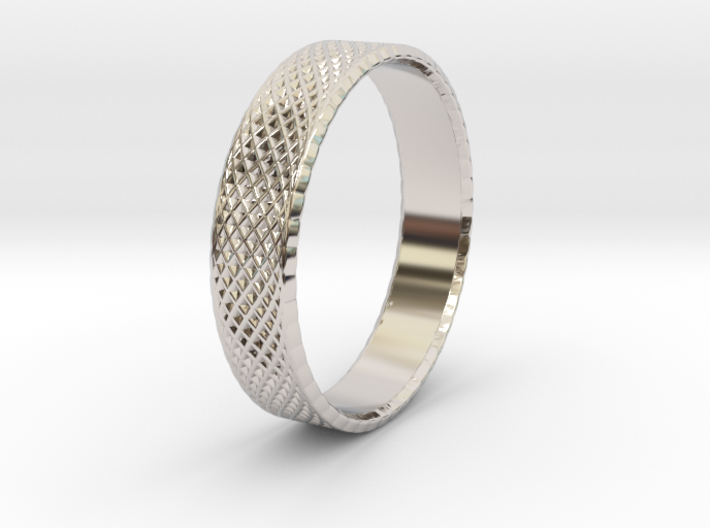 0101 Lissajous Figure Ring (Size9.5, 19.4mm) #002 3d printed