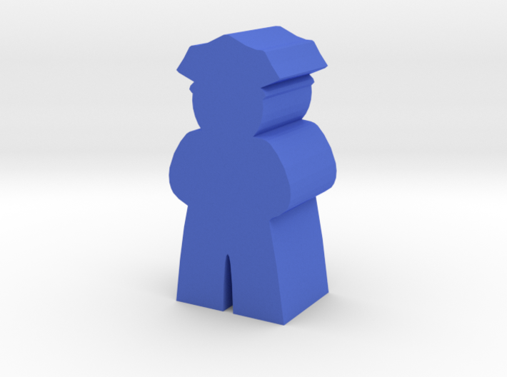Game Piece, Police Officer 3d printed