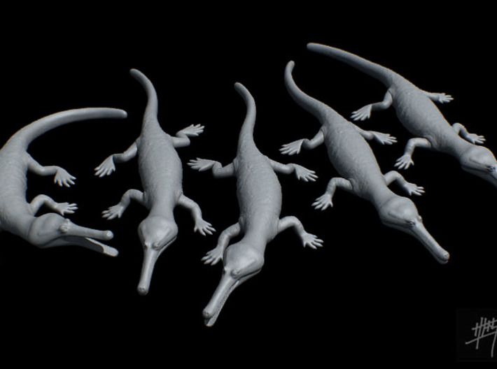 Champsosaurus pack 1/20 3d printed