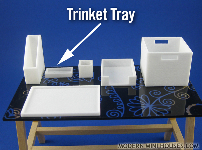 Office: Trinket Tray 1:12 scale 3d printed