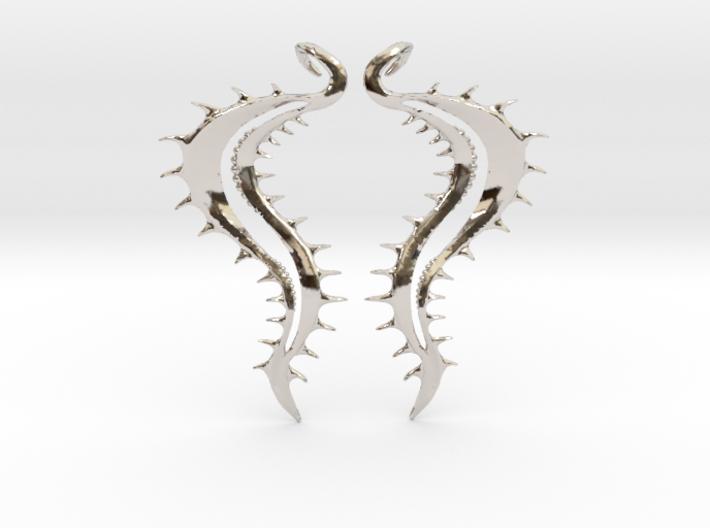 SeaSpikes Earrings 3d printed