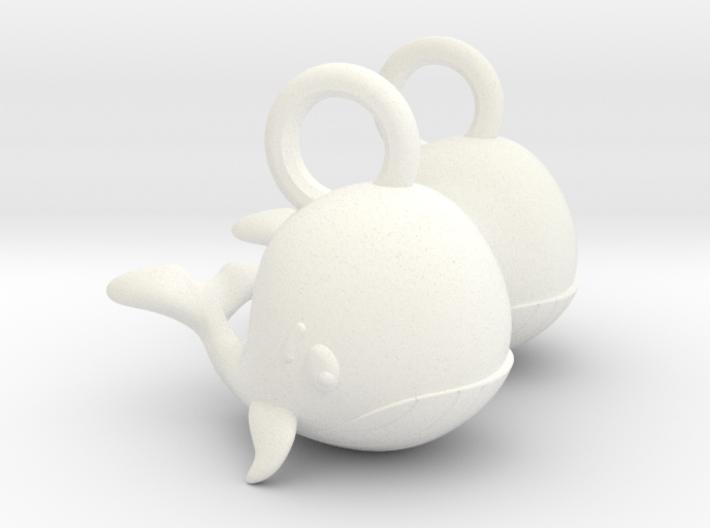 Whale Earrings 3d printed