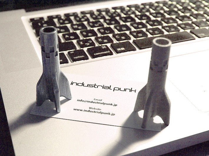V2 Rocket Cigarette Stubber 3d printed V2 Rocket Cigarette Stubber printed in Steel and Alumide