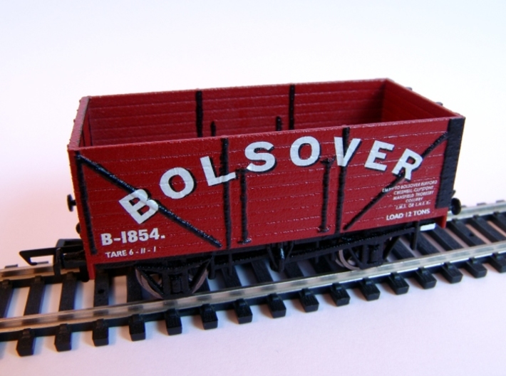 Private Owner Wagon: 18ft, 8 Plank, Side+End Doors 3d printed Painted and finished with Modelmaster transfers and fitted with Hornby wheels and couplings