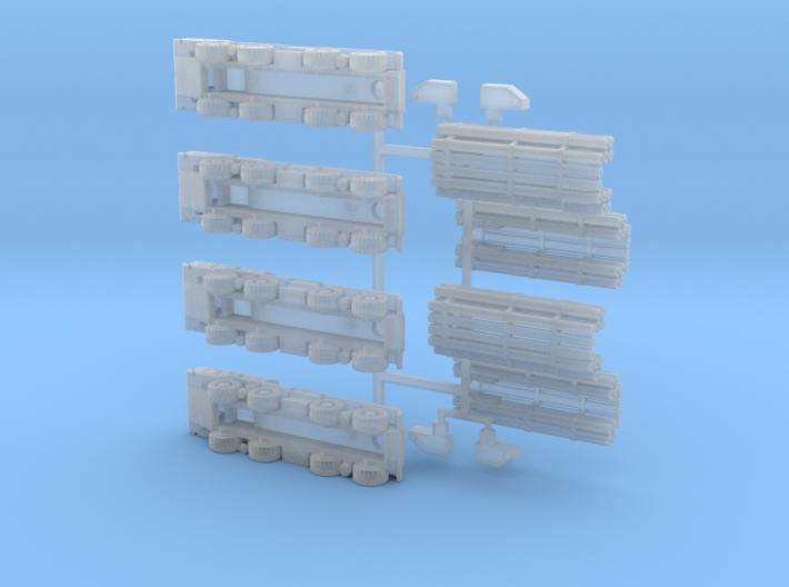 9A52 Smerch MLRS Battery 1/300 3d printed