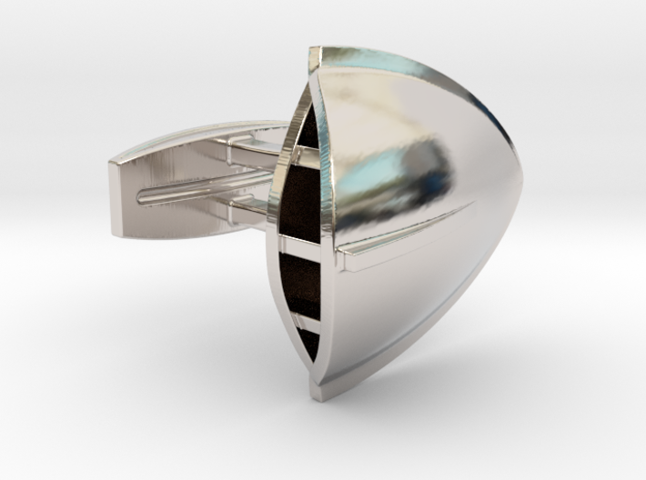 Triton Cufflinks 3d printed