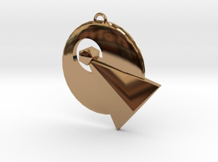 IDIC pendant (Star Trek) 3d printed