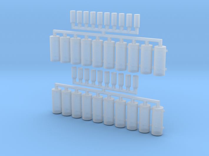 AWS Reservoir Tanks x20 (OO Gauge) 3d printed