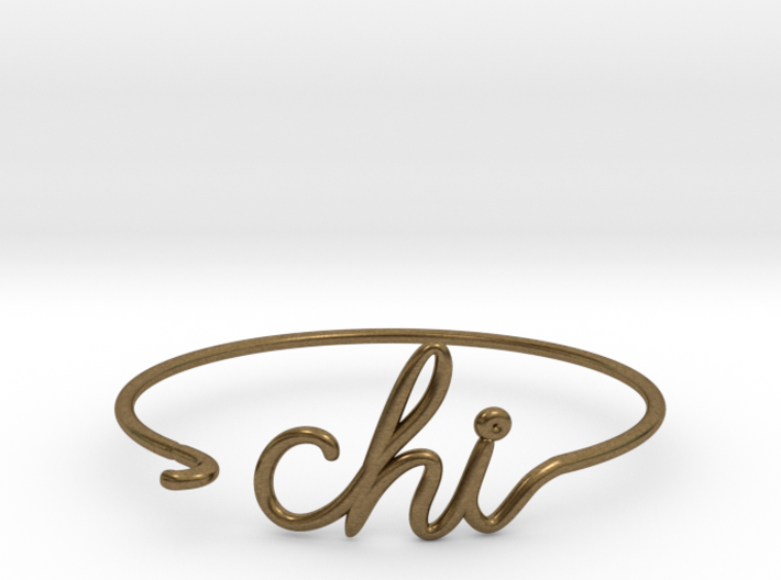 CHI Wire Bracelet (Chicago) 3d printed