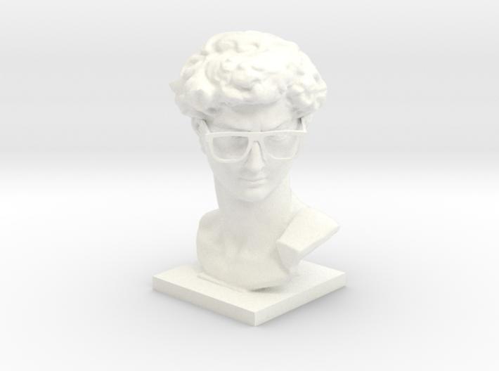 Hipster David 3d printed