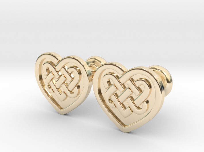 Heart Cufflinks 3d printed
